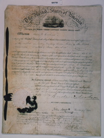 Andrew Jackson Signed Patent