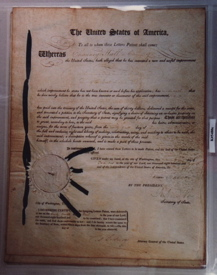 James Madison Signed Patent