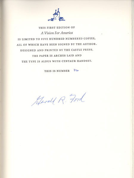 Gerald Ford's Signed Book