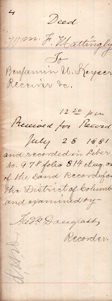 Frederick Douglass Document Signed