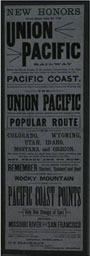 Union Pacific Railroad Broadside